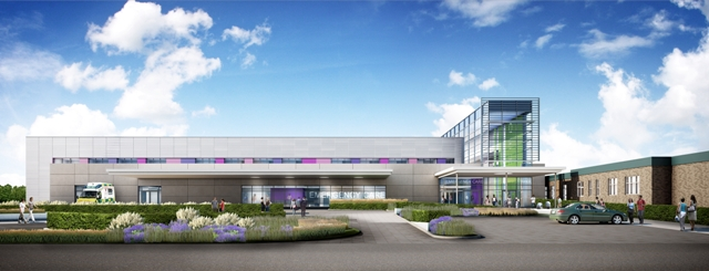 Architects drawing of new building at Queen Elizabeth Hospital